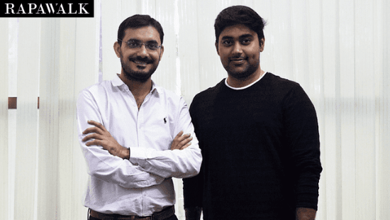 Rapawalk founder- Kashif Mohammad and Aravind Maddireddy