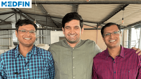 Medfin Founders: Arjun Kumar, Arun Kumar, and Sidharth Gurjar