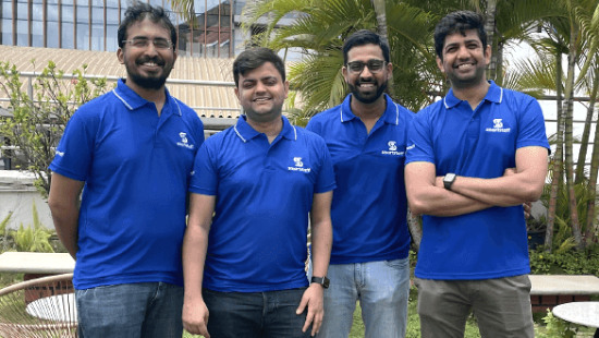 Smartstaff Founders: Arpit Dave, Gnanesh Chilukuri, Viral Chhajer, and Aravind Reddy